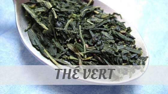 How To Say Thé Vert?