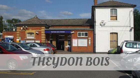 How To Say Theydon Bois