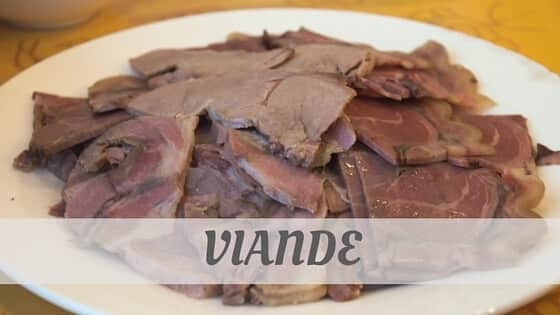 How To Say Viande
