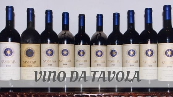 How Do You Pronounce Vino Da Tavola?