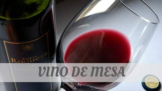 How Do You Pronounce Vino De Mesa?