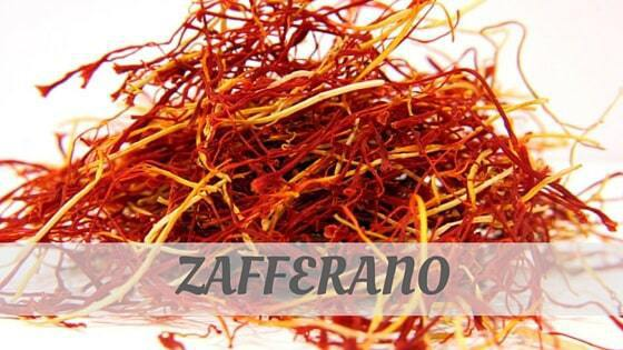 How Do You Pronounce Zafferano?
