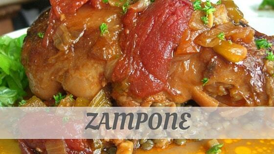 How To Say Zampone