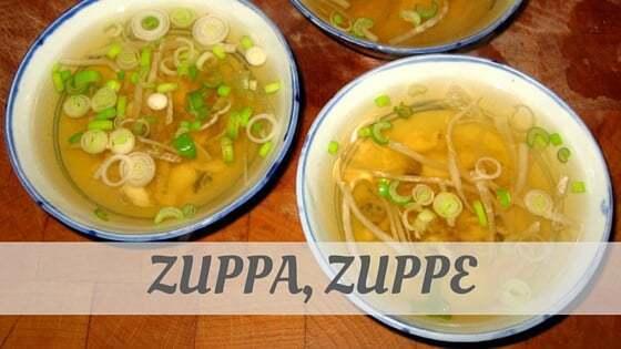 Zuppa, Zuppe