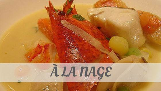 How To Say À La Nage