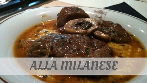 How To Say Alla Milanese