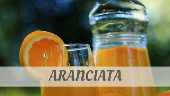 How Do You Pronounce Aranciata?