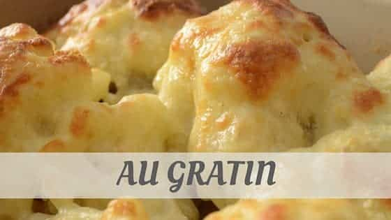 How To Say Au Gratin