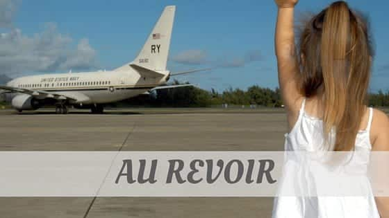 How To Say Au Revoir