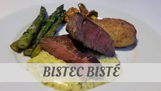 How Do You Pronounce Bistec, Bisté?