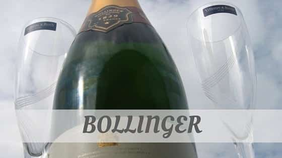 How To Say Bollinger