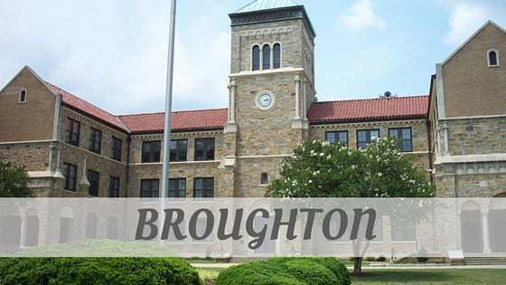 How To Say Broughton