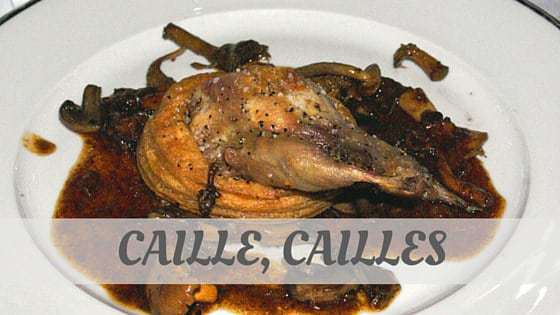 How To Say Caille, Cailles?