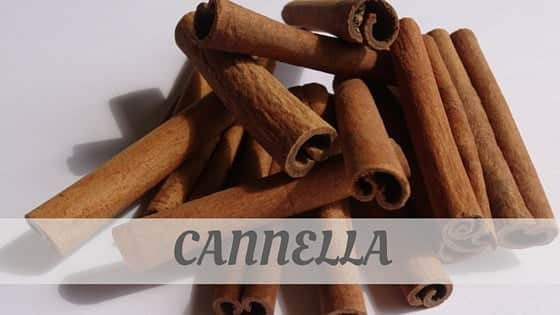 How To Say Cannella?