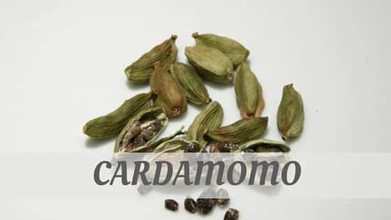 How To Say Cardamomo