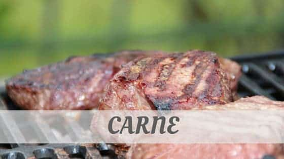 How To Say Carne (Italian)?