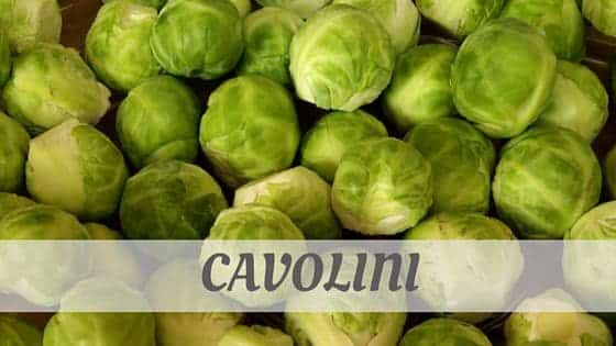 How Do You Pronounce How To Say Cavolini?