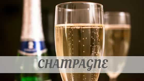 How To Say Champagne