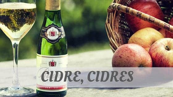 How To Say Cidre, Cidres?
