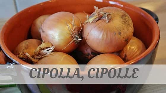 How To Say Cipolla, Cipolle?