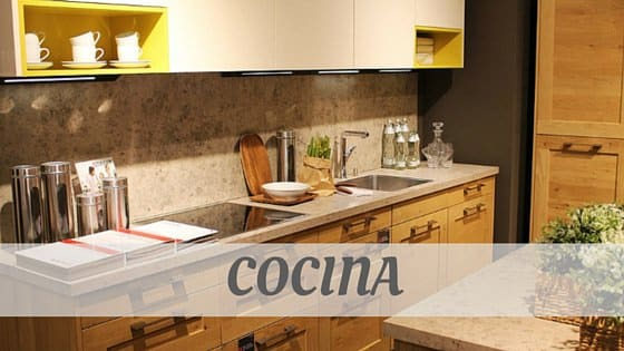 How To Say Cocina