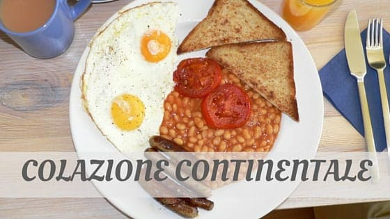 How Do You Pronounce Colazione Continentale?