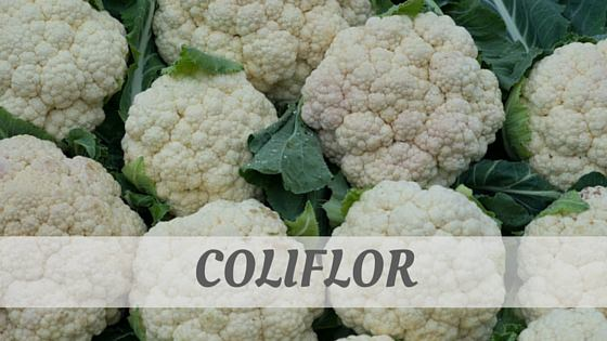 How To Say Coliflor