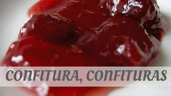 How To Say Confitura