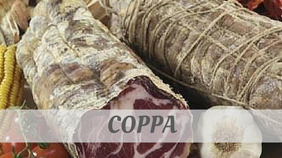 How Do You Pronounce Coppa?