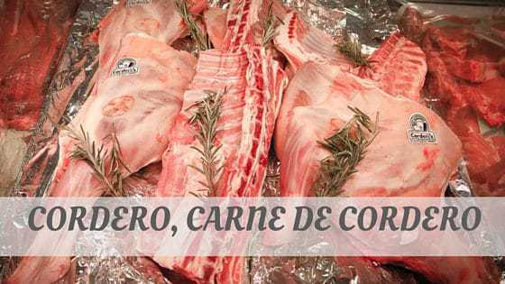 How To Say Cordero
