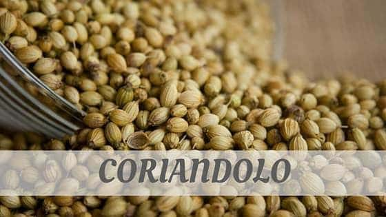 How Do You Pronounce Coriandolo?