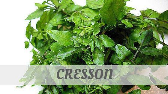 How Do You Pronounce Cresson?