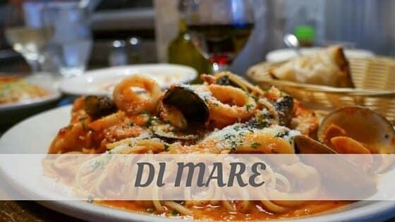 How Do You Pronounce Di Mare?