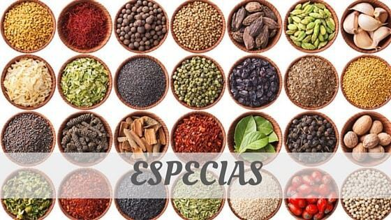 How To Say Especias?