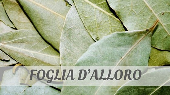 How Do You Pronounce Foglia D'alloro?
