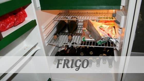 How To Say Frigo?