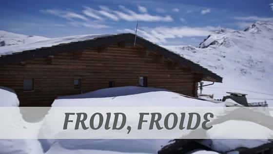 How Do You Say Froid Froide We Ll Teach You Now