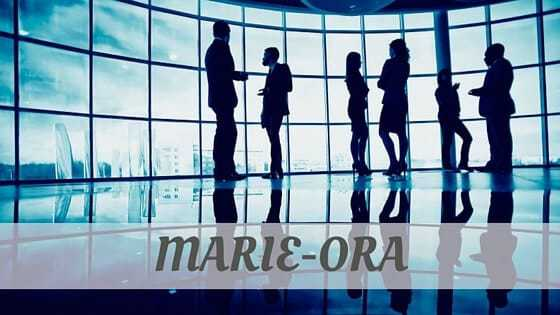 How To Say Marie Ora