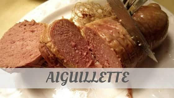 How To Say Aiguillette