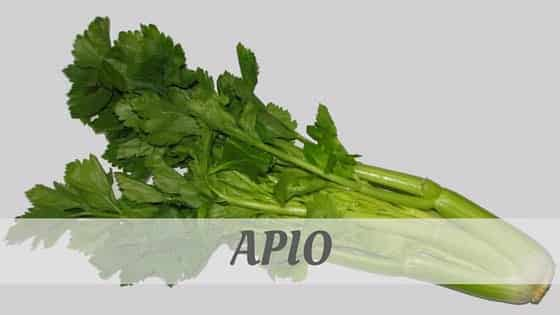 How To Say Apio