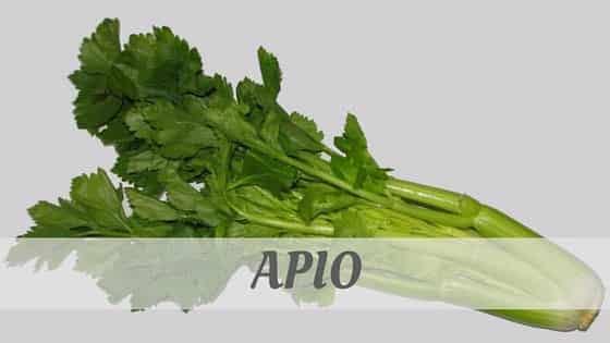 How Do You Pronounce Apio?