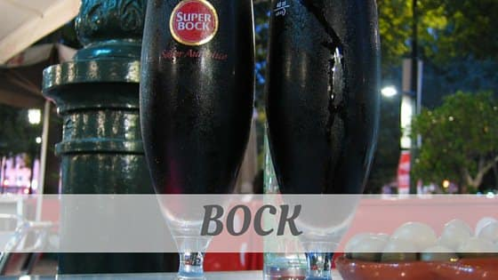 How To Say Bock?