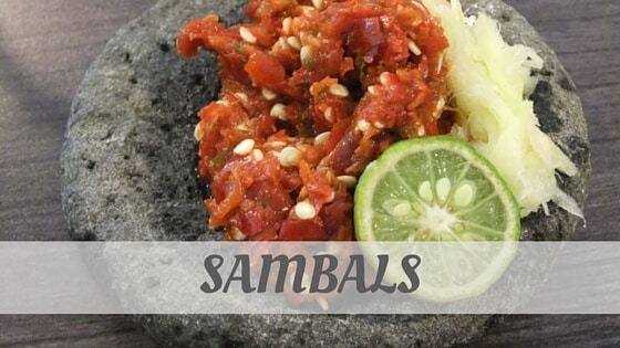 How To Say Sambals