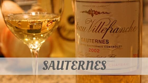 How To Say Sauternes