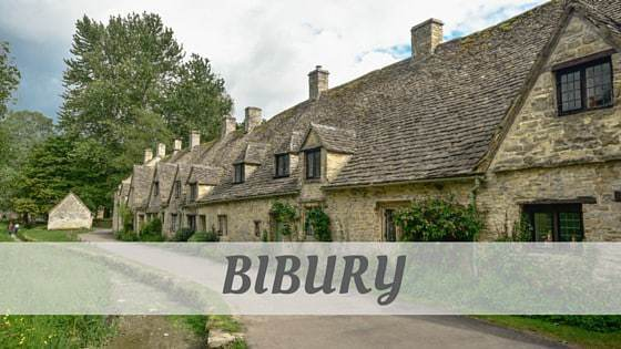 How To Say Bibury