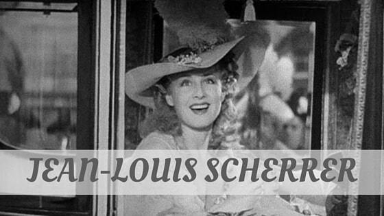 How Do You Pronounce Jean-Louis Scherrer?