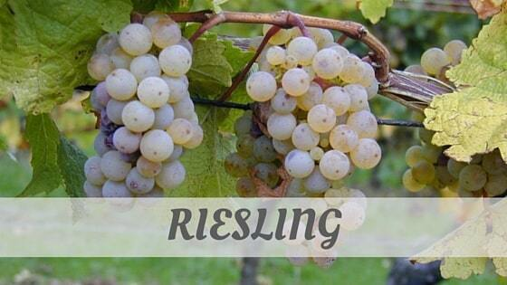 How To Say Riesling?