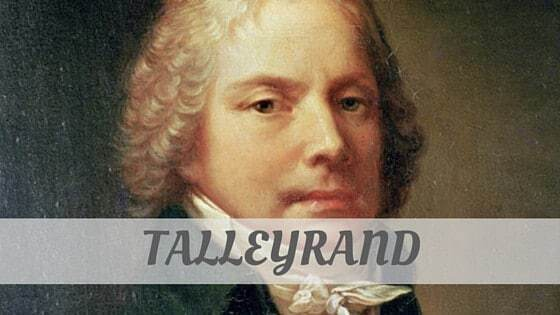 How To Say Talleyrand?