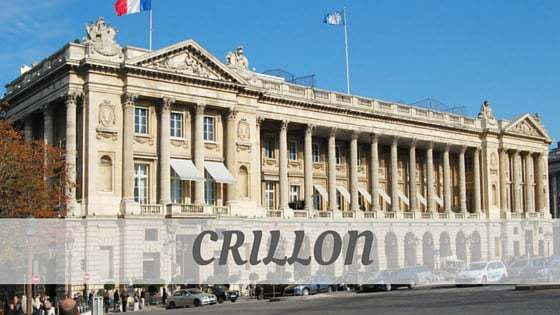 How To Say Crillon?