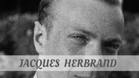 How Do You Pronounce Jacques Herbrand?